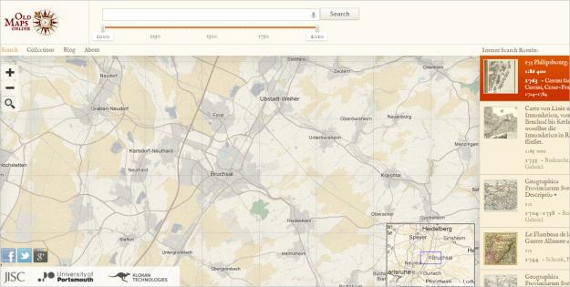 Gehen sie zu oldmapsonline org historische landkarten